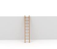 Escada e parede isoladas no branco Imagem de Stock