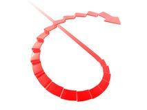 Escada espiral seta dada forma Fotografia de Stock