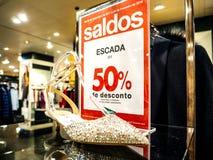 Escada gîte la mode 50 pour cent Photographie stock libre de droits