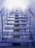Escada a iluminar-se Foto de Stock