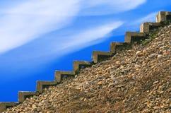 Escada na parte superior. Imagens de Stock