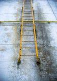 Escada oxidada velha da saída de emergência Imagem de Stock Royalty Free