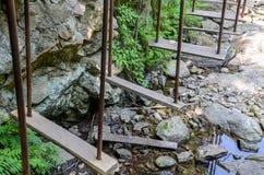 Escada para o treinamento do obstáculo fotografia de stock royalty free