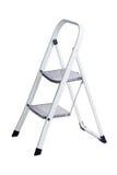 Escada pequena do metal isolada no branco Imagem de Stock Royalty Free