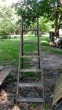 Escada portátil de madeira Fotografia de Stock Royalty Free