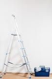 Escada portátil e ferramentas para o reparo Fotografia de Stock