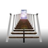 Escada que conduz ao céu Ilustração Stock