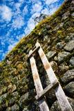 Escada quebrada acima de uma parede Fotos de Stock Royalty Free