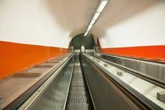 Escada rolante do metro Imagem de Stock