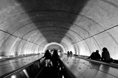 Escada rolante do metro Imagem de Stock Royalty Free