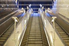 Escada rolante do metro de Moscou Imagem de Stock