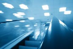 Escada rolante do transporte Foto de Stock