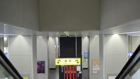 Escada rolante em Japão video estoque