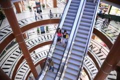 Escada rolante em uma loja Imagens de Stock Royalty Free