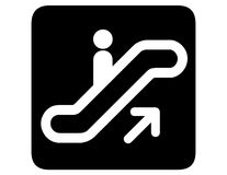 Escada rolante invertida acima Imagem de Stock Royalty Free