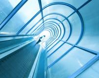 Escada rolante moderna Fotografia de Stock