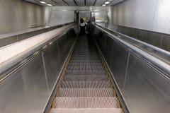 Escada rolante no metro Foto de Stock Royalty Free