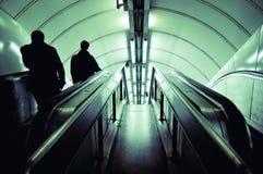 Escada rolante que vai para baixo Imagem de Stock