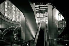 Escada rolante subterrânea na defesa Foto de Stock Royalty Free