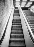 Escada rolante vazia Fotografia de Stock Royalty Free