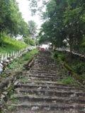 A escada velha Foto de Stock Royalty Free