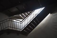 Escada velha da textura do fim do stalll Imagens de Stock Royalty Free