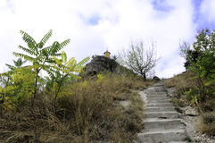 Escadaria à capela no monte Imagens de Stock Royalty Free