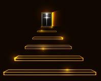 Escadaria à ilustração do vetor do céu Imagens de Stock