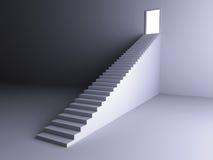 Escadaria à luz ilustração stock