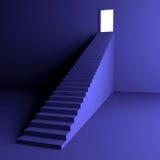 Escadaria à luz ilustração do vetor