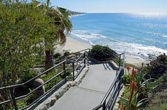 Escadaria à praia principal no Laguna Beach, Califórnia Imagens de Stock Royalty Free