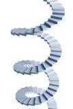 Escadaria 3d espiral isolada Imagem de Stock Royalty Free