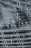 Escadaria 4 do metal fotos de stock