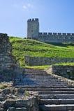 Escadaria abaixo da torre em fotress de Kalemegdan, Belgrado da déspota Imagem de Stock