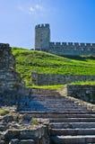 Escadaria abaixo da torre em fotress de Kalemegdan, Belgrado da déspota Imagem de Stock Royalty Free