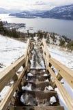 Escadaria abaixo de uma montanha Imagem de Stock