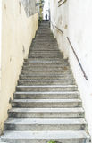 Escadaria alta com muitas etapas Imagens de Stock Royalty Free