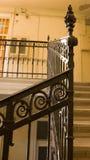 Escadaria amarela velha fotografia de stock royalty free