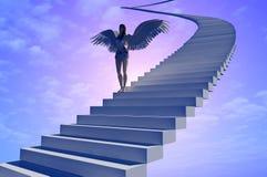 Escadaria ao céu. ilustração stock