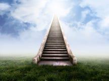 Escadaria ao céu fotos de stock royalty free