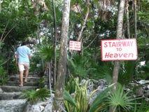 Escadaria ao céu em Cozumel imagens de stock