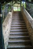 Escadaria ao céu em Goregaon imagens de stock royalty free