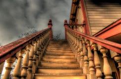Escadaria ao desconhecido fotografia de stock