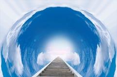 Escadaria ao paraíso Fotos de Stock Royalty Free