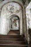 Escadaria arruinada Palazzo Constantino, Palermo foto de stock royalty free
