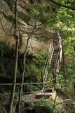 Escadaria azul das montanhas Fotos de Stock