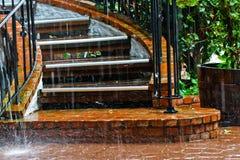 Escadaria chuvosa Fotografia de Stock Royalty Free