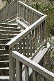 Escadaria coberta pela neve imagens de stock
