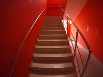 Escadaria com etapas ao segundo andar fotos de stock