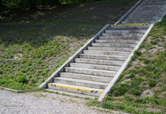 Escadaria concreta Fotos de Stock Royalty Free
